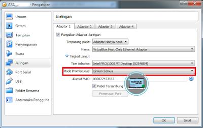 Cara Menjalakan Server VDI ARD di VirtualBox Tanpa Kabel LAN