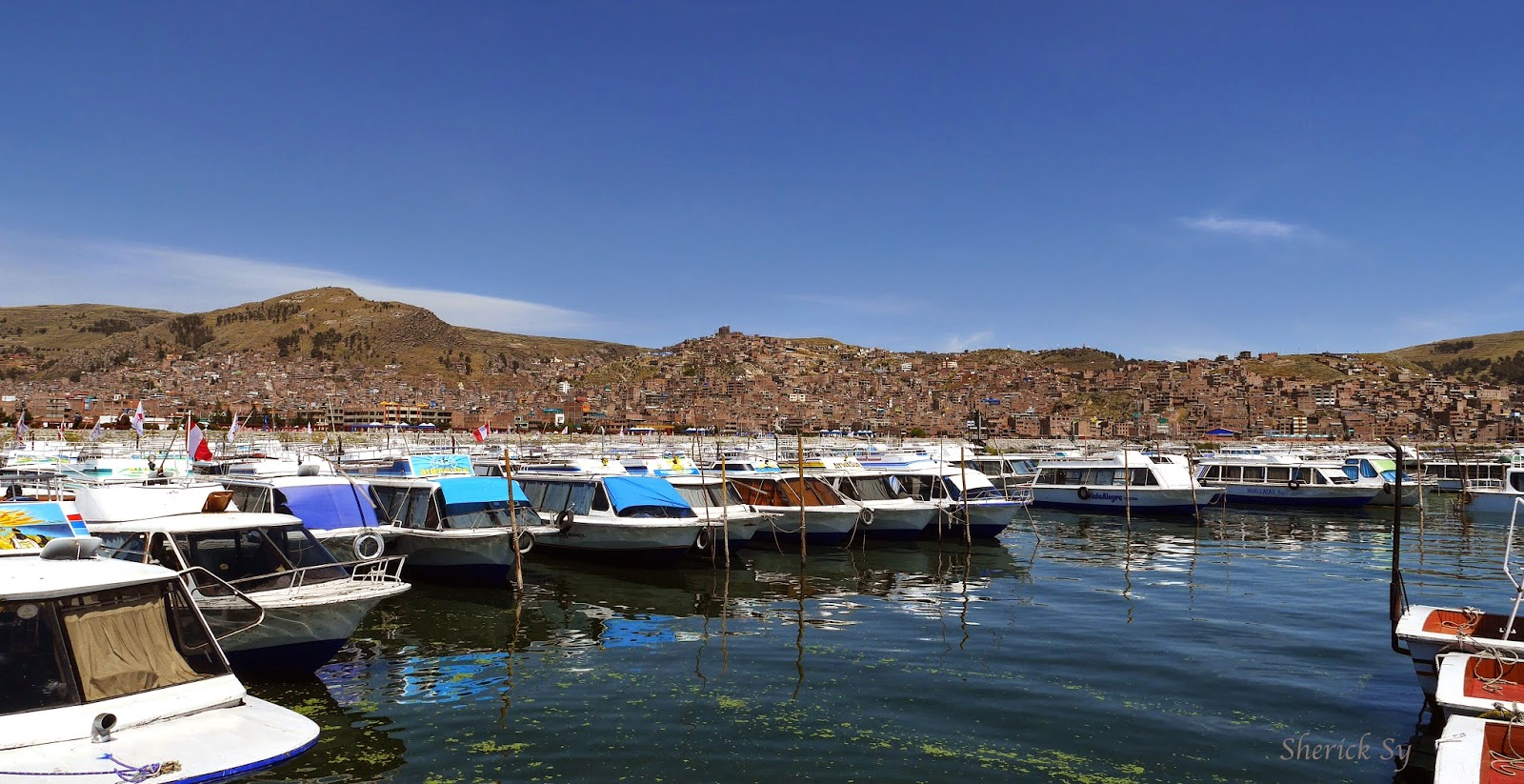 Jetty and Town of Puno, Peru