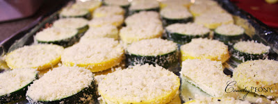 Summer Squash Panko Parmesan Crisps