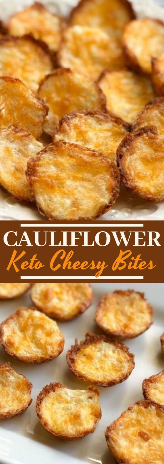 Keto Cauliflower Bites #lowcarb #snacks #appetizers #vegetarian #diet
