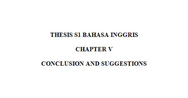 thesis bahasa inggris s1 Contoh proposal skripsi bahasa inggris berikut ini bisa dijadikan sebagai bahan pertimbangan dalam pembuatan proposal skripsi s1 anda.