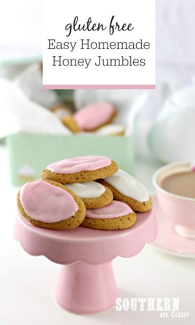 Easy Homemade Gluten Free Honey Jumbles Recipe - Australia Day Recipes, Australian Recipes, cookies, gluten free, biscuits, egg free, nut free, dairy free