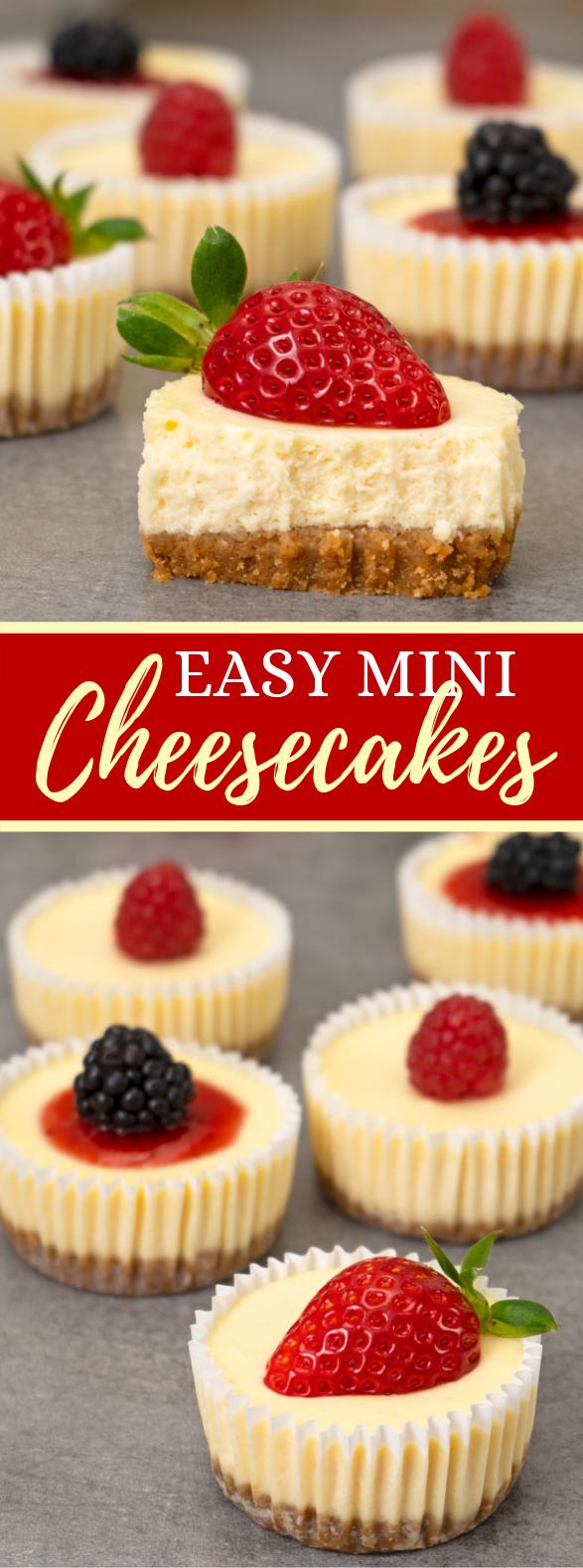 Easy Mini Cheesecakes #desserts #berries