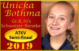 Unicka Bothma, Gr.8, H/s Schweizer-Reneke praat haar weg oop tot in die ATKV Semi-finaal 2019! Ons hou jou vol verwagting dop, Unicka!