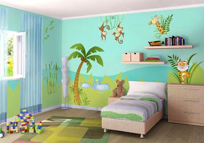 C mo pintar una habitaci n infantil dormitorios con estilo - Pintar pared dormitorio ...