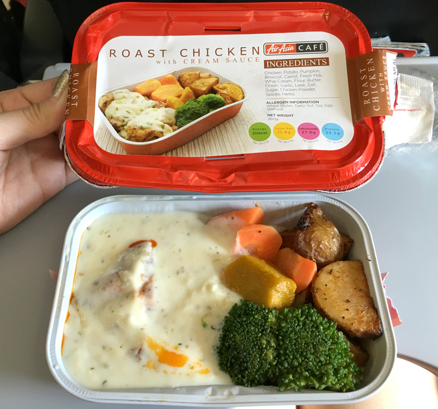 Air asia roast chicken with cream sauce voneats for Airasia japanese cuisine