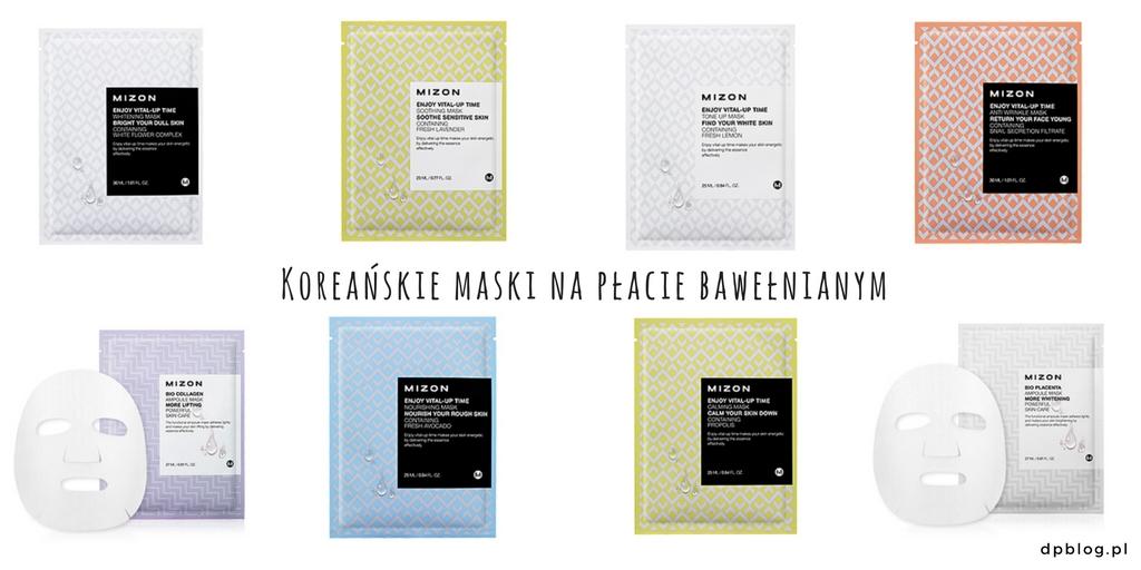 Koreańskie maski na płacie bawełnianym