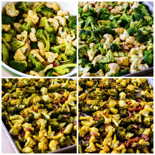 Slow-Roasted Broccoli and Cauliflower with Curry found on KalynsKitchen.com