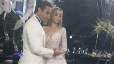 هنا الزاهد, احمد فهمى, حفل زفاف,