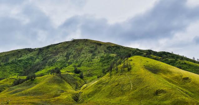 Bukit Teletubbies di gunung bromo