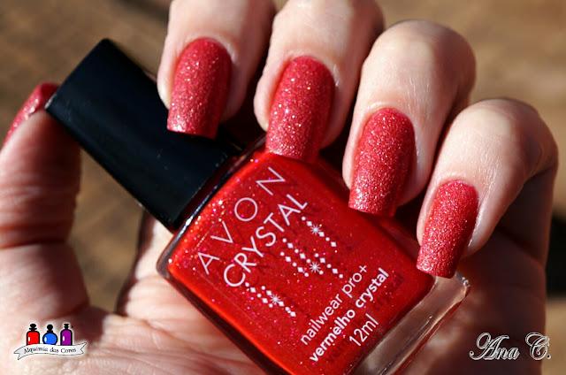 Avon, Vermelho Crystal, texturizado, vermelho