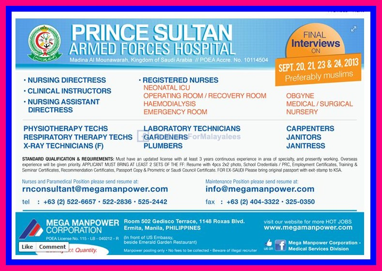 Prince Sultan Armed Forces Hospital Ksa Jobs Gulf Jobs