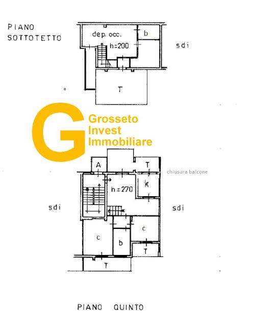 Grosseto,cittadella-appartamento-3-vani-con-mansarda-superprezzo