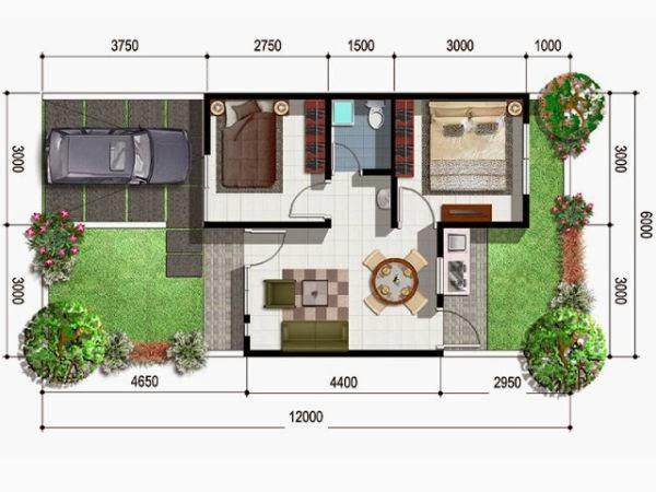 desain rumah minimalis type 54 2