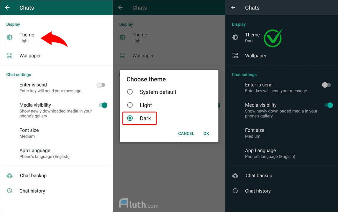 How to Apply Dark Mode on WhatsApp