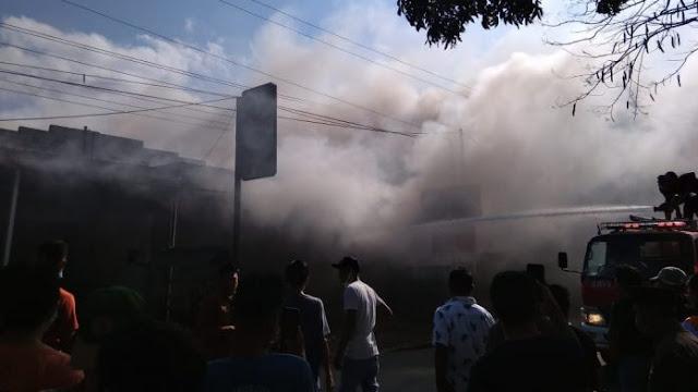 Kebakaran di Batunyala Praya Tengah Lombok Tengah