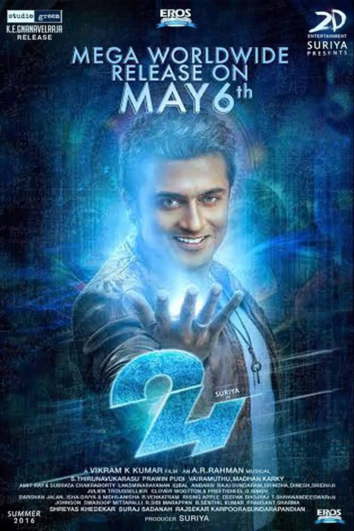 24 (2016) Tamil Movie 720p HDRip 750mb English ESub