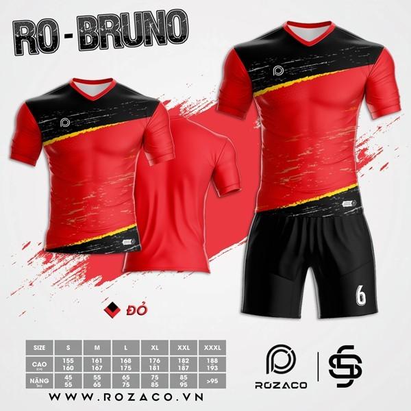 Áo Không Logo Rozaco RO-BRUNO Màu Đỏ