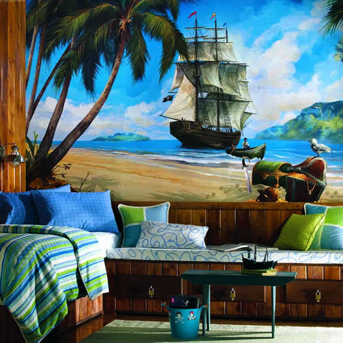 Wall Sticker Outlet Decorating a Pirate Themed Bedroom