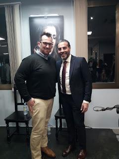 Félix Crujera con un maestro