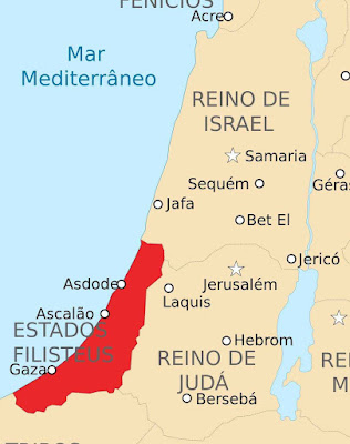 Pentápolis Filisteia no ano 830 a.C.