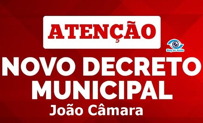 Publicado o decreto com as medidas restritivas no município de João Câmara pelos próximos 15 dias