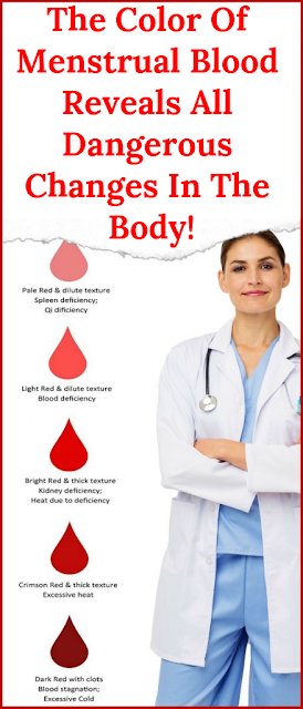 The Color Of Menstrual Blood Reveals All Dangerous Changes In The Body!