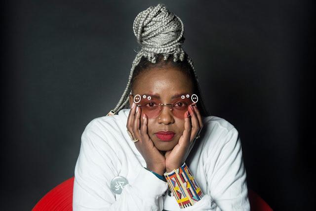 Muthoni Drummer Queen White braids