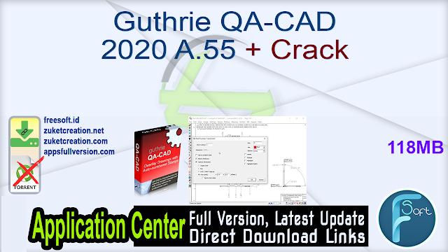 Guthrie QA-CAD 2020 A.55 + Crack