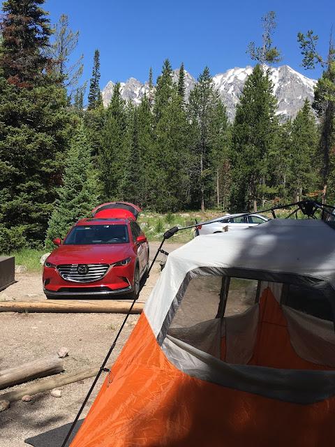 2017 Mazda CX-9 Grand Touring at Jenny Lake Campground, Grand Teton National Park