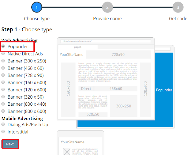 Cara Daftar, Verifikasi dan Pasang Iklan Propeller Ads Bergambar