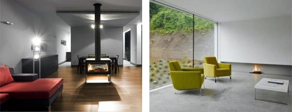 mimimalist style interiors