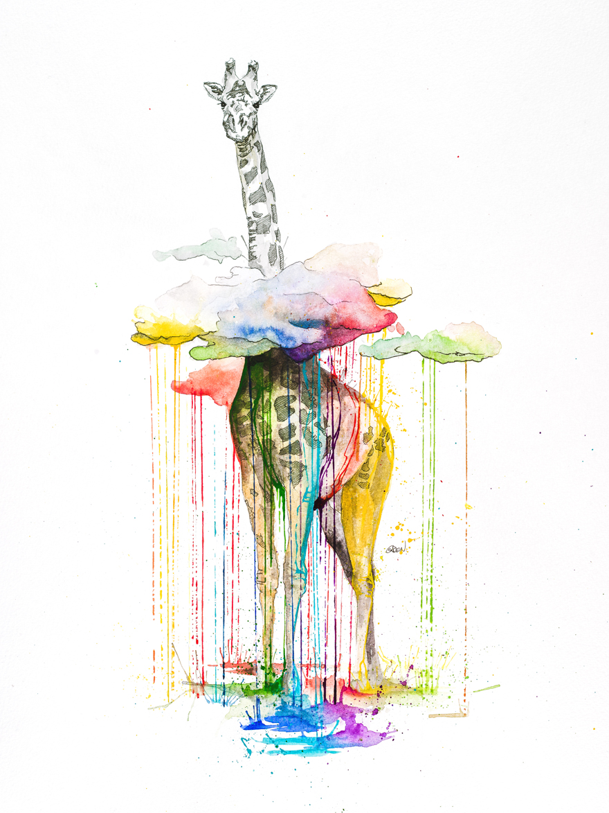 03-Giraffe-Philipp-Grein-Animal-Paintings-in-Splashes-of-Color-www-designstack-co