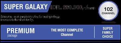 Daftar channel paket Indovision Super Galaxy terbaru 2016