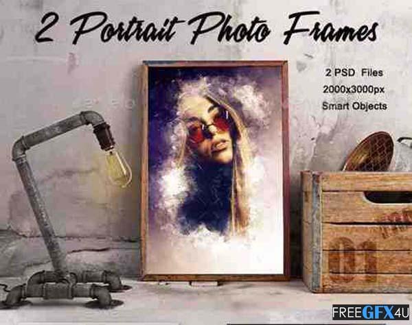 2 PSD Portrait Photo Frames
