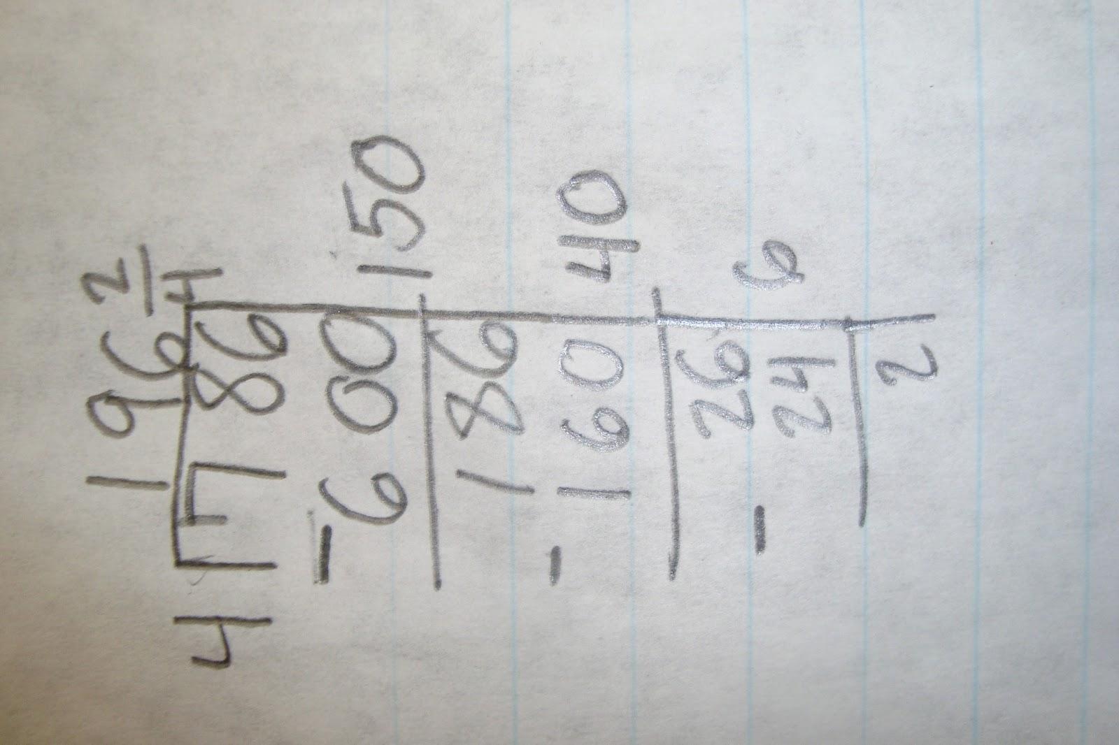 Long Division Strategies 5th Grade