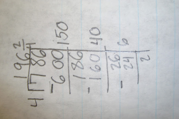 Elementary Math Maniac Partial Quotients