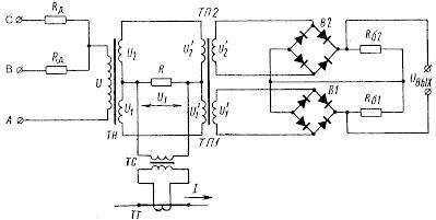 Принципиальная схема датчика активного тока