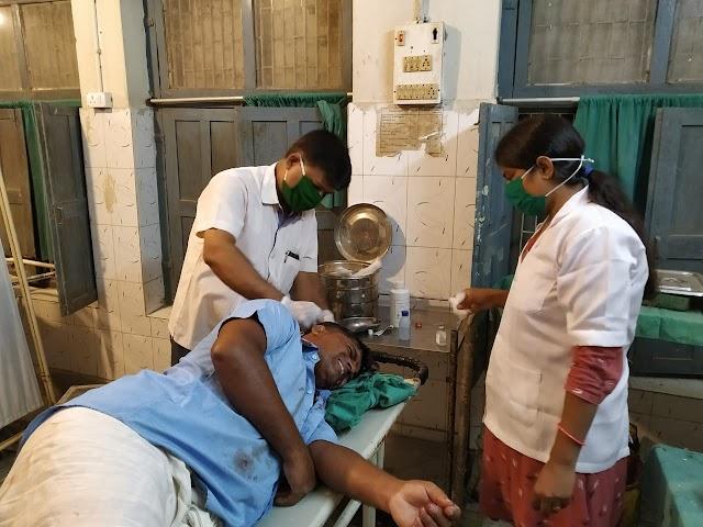 पाली में रास्ता निर्माण से रोका तो मारपीट कर किया जख्मी
