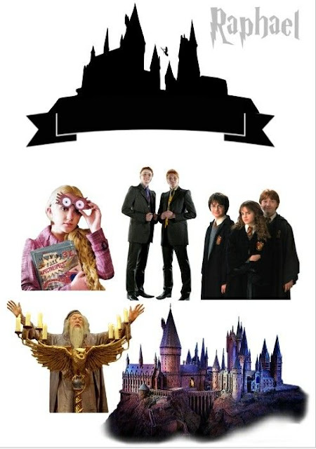 Harry Potter Movie: Free Printable Cake Toppers.