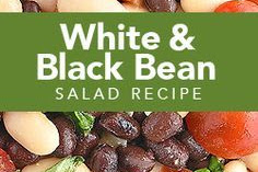 WHITE AND BLACK BEAN SALAD RECIPE