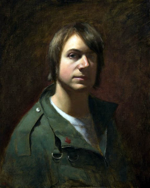 David Gluck, Self Portrait, Portraits of Painters, Fine arts, Portraits of painters blog, Paintings of David Gluck, Painter David Gluck