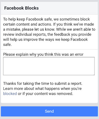Request Review For Facebook On Unblock Your Website Url