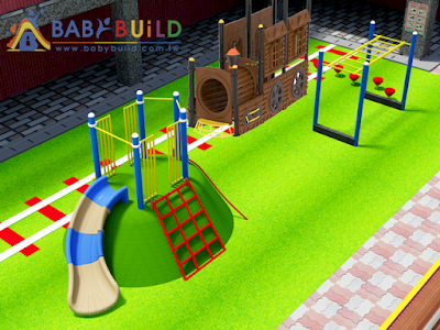 BabyBuild『火車過山洞』特色遊戲場示意圖