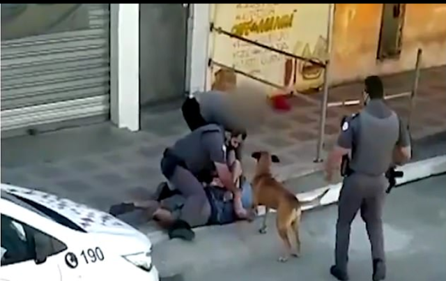 20200715 091519 - Two law enforcement officials in Brazil are suspended after one was seen standing on a black lady's neck