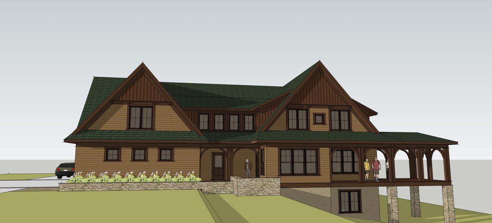 simply elegant home designs blog custom home design craftsman lake home. Black Bedroom Furniture Sets. Home Design Ideas