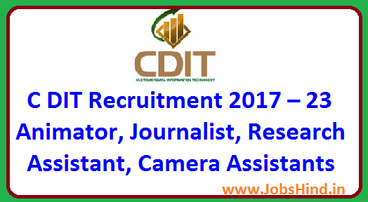 C DIT Recruitment 2017