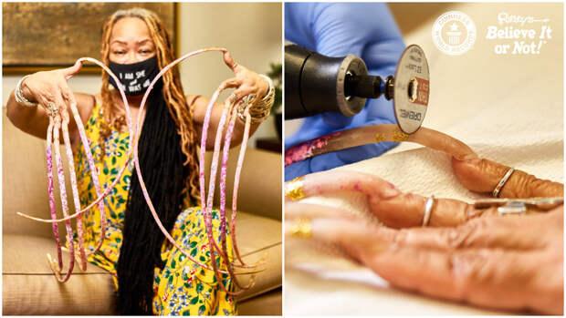 Рекордсменка впервые за 28 лет постригла свои ногти, и вот насколько длинными они стали за это время