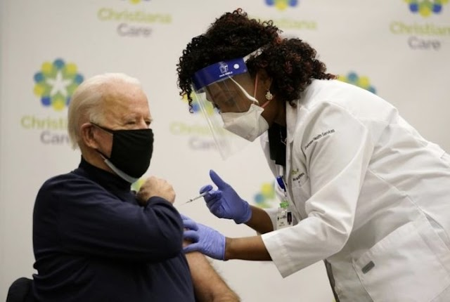 Joe Biden, Wife, take COVID-19 vaccine, praises Trump