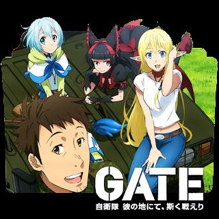 جميع حلقات ومواسم انمي Gate مترجم  عدة روابط